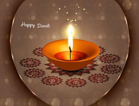 candil: hermosa vector diwali diya fant�stico dise�o colorido
