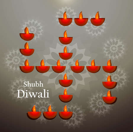 diwali beautiful artistic background vector Vector