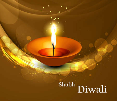 beautiful shiny diwali colorful vector background Stock Vector - 18499588