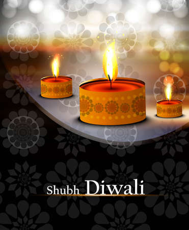 happy diwali diya bright shiny colorful background Stock Vector - 18500127