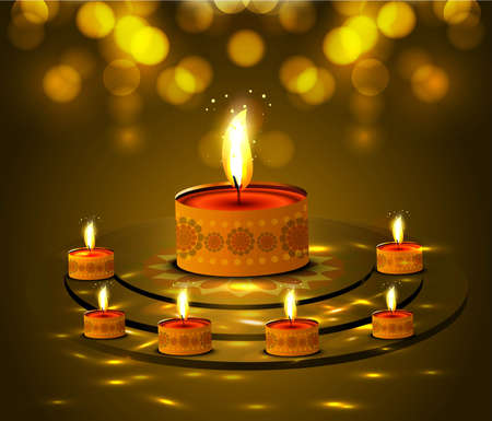 happy diwali beautiful card background vector design Vector