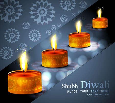 Happy diwali diya celebration colorful design vector Stock Vector - 18500126