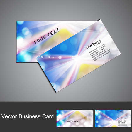 abstract blue colorful stylish circle wave business card set vector Stock Vector - 18563123