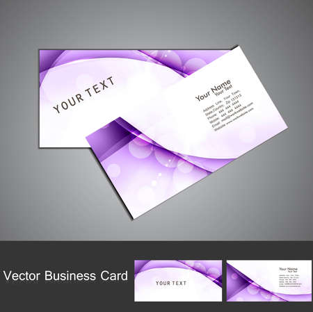 Business card set vector colorful wave vector design Stock Vector - 18567350