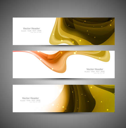 Abstract header bright colorful wave vector design Stock Vector - 18567382