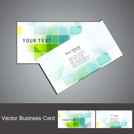 abstract colorful mosaic business card set design vector Illustration