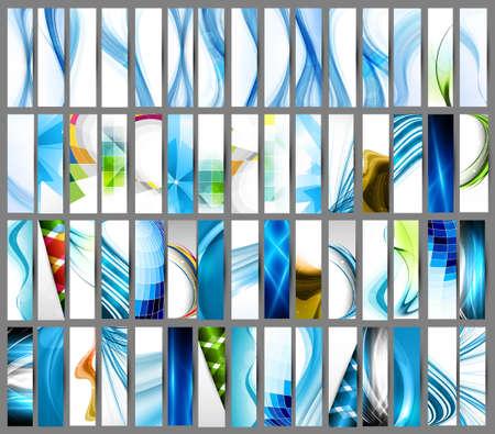 추상 여러 가지 다채로운 수직 헤더 집합 컬렉션 벡터 디자인 스톡 콘텐츠 - 18621794