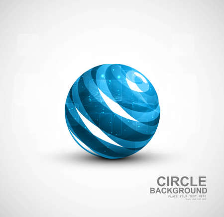 abstract blue bright colorful circle vector illustration  Vector