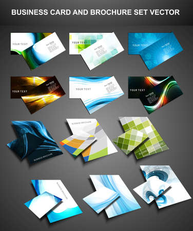 namecard: abstract Various Business Card and brochure set collection vector