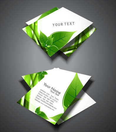 abstract green lives colorful stylish business card presentation vector Vector