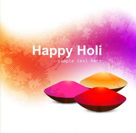 abstract gulal background of holi festival design Illustration