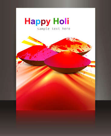 hindus: abstract gulal background of holi festival design brochure card illustration