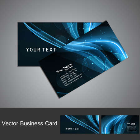 abstract bright colorful line wave Professional business card set Stock Vector - 18704621