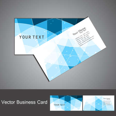 abstract colorful mosaic business card set design  Vector