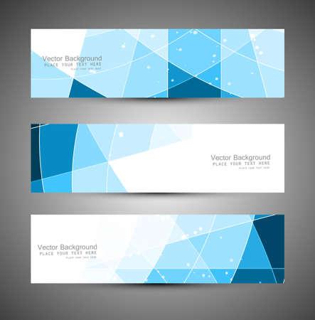 Abstract blue colorfull header mosaic wave vector illustration  Illustration