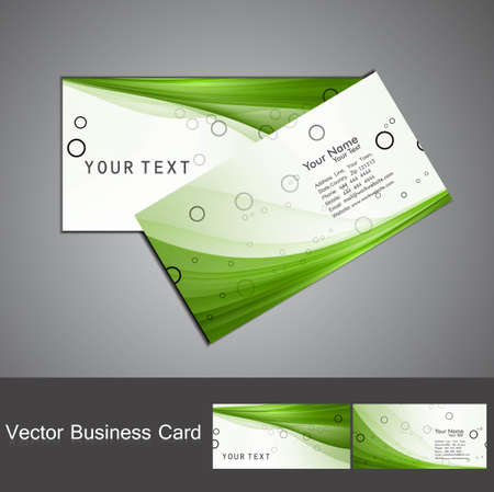 business card template: abstract green colorful business card set vector