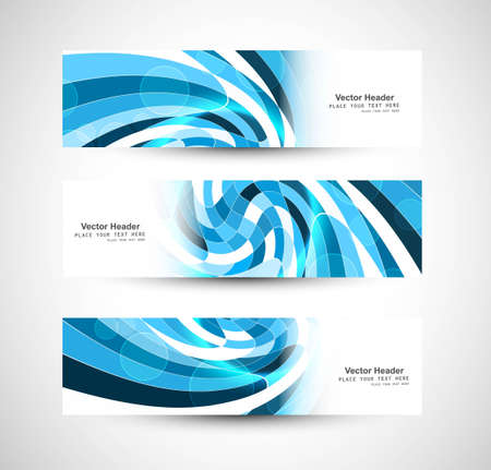 whit: Abstract swirl header blue wave vector whit design