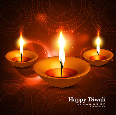 Shiny beautiful hindu diwali festival vector design Vector