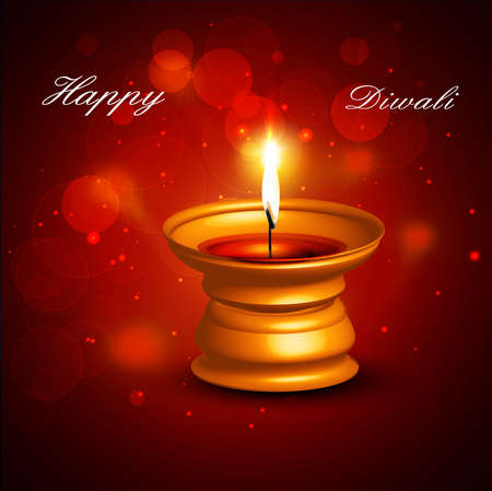 Beautiful happy diwali diya bright colorful hindu festival vector background Stock Vector - 18805281