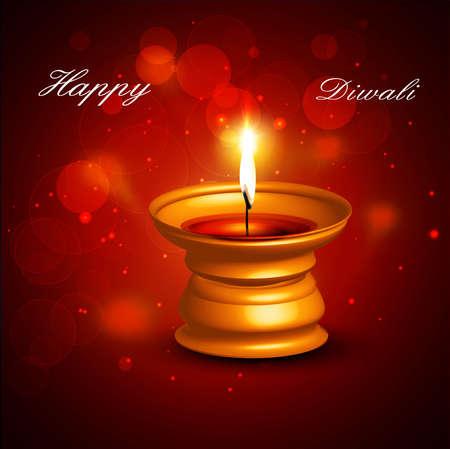Beautiful happy diwali diya bright colorful hindu festival vector background Stock Vector - 18805281