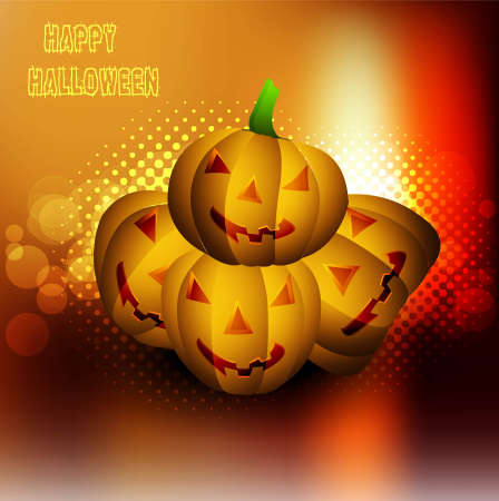 Halloween pumpkins Party vector illustration Stock Vector - 18838621