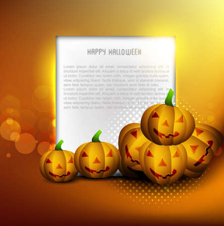 Halloween pumpkins Party card vector illustration Stock Vector - 18838624