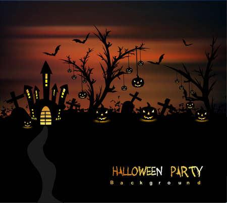 happy halloween party vector background Stock Vector - 18838625