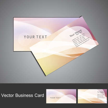 abstract colorful business card set vector design Vector