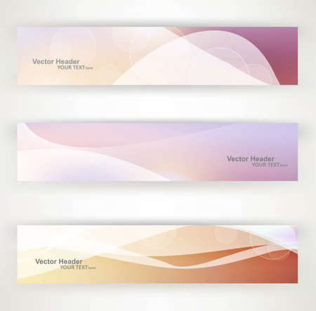 Abstract header vector bright colorful wave design Vector
