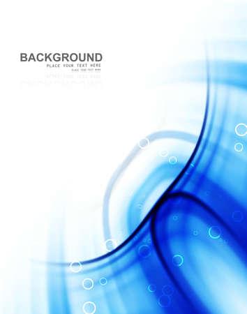 abstract blue swirl stylish technology wave background illustration Stock Vector - 18838582
