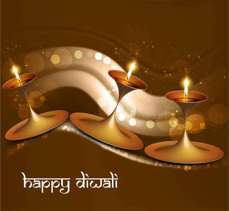 Diwali vector Beautiful illuminating diya bright colorful background festival hindu  Vector