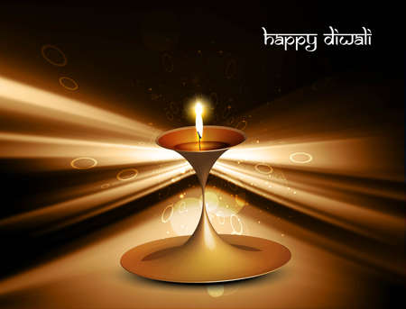 happy diwali shiny beautiful celebration vector  Vector