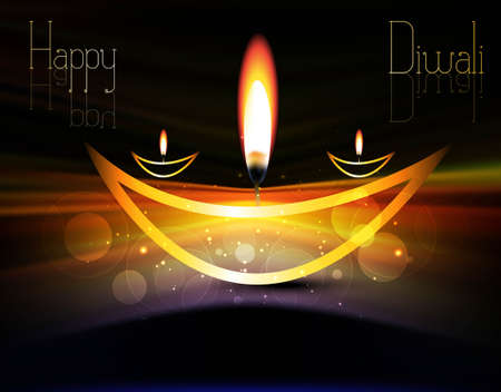 happy diwali shiny beautiful bright celebration vector illustration Vector
