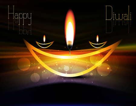 happy diwali shiny beautiful bright celebration vector illustration Stock Vector - 18838783