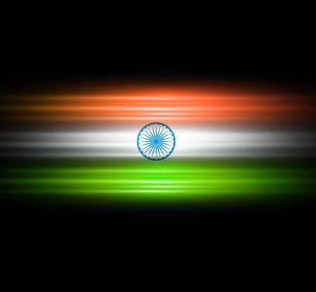 Indian flag black bright stylish tricolor vector Stock Vector - 18881354