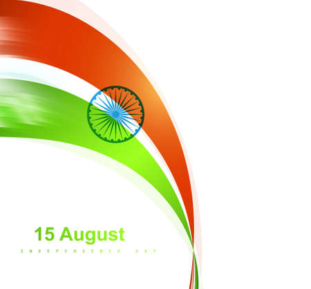 Indian flag stylish wave vector design Vector