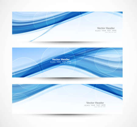 Abstract header blue wave technology vector illustration Vector