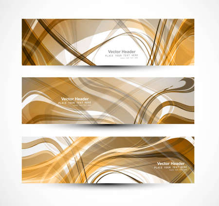 brigt: Abstract header colorful vector wave illustration