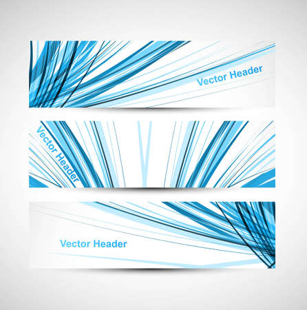 Abstract header line blue colorful wave technology vector illustration Vector