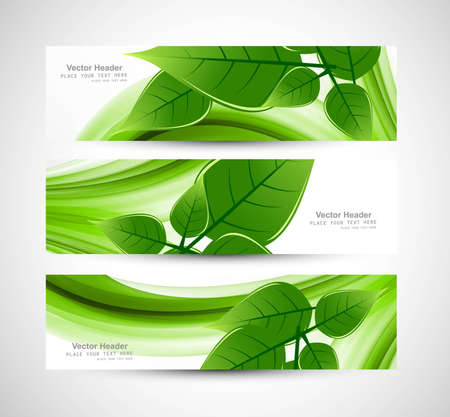 abstract Natural eco green lives header Illustration