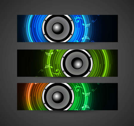 abstract Speakers colorful header illustration Stock Vector - 18857769