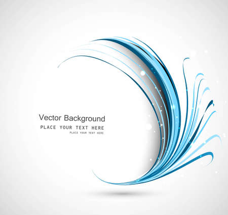 abstract business technology colorful blue circle wave illustration