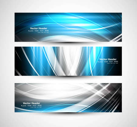 Abstract header bright colorful wave Stock Vector - 18869882
