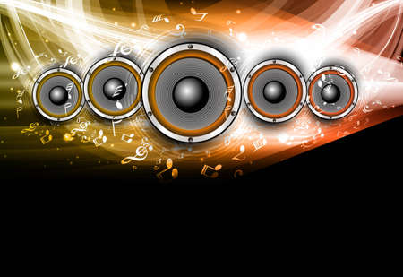 abstract Speakers black bright background wave Stock Vector - 18869875