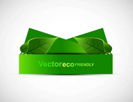 whit: abstract  natural frame eco green lives whit background Vector