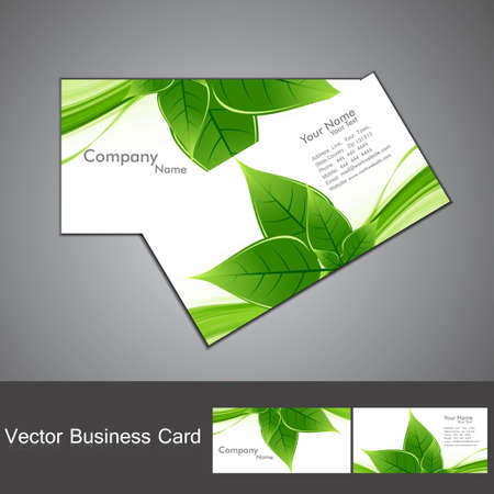 abstract  green lives colorful stylish business card set vector Vector
