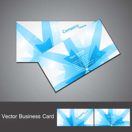 abstract blue colorful business card set vector Vector