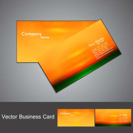 abstract orange shiny bright colorful marketing business card set vector Stock Vector - 18873851