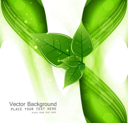 whit: abstract Vector Natural eco green lives wave whit background vector