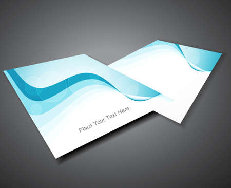 abstract Professional business blue colorful brochure design Vector